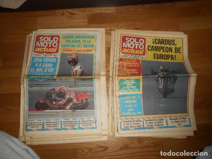Coleccionismo deportivo: LOTE DE 24 REVISTA SOLO MOTO SOLO MOTO ACTUAL NºS DEL 386 AL 411 A FALTA DEL 394 AÑO 1983 - Foto 10 - 140430438