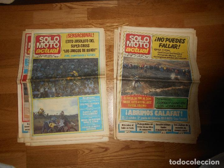 Coleccionismo deportivo: LOTE DE 24 REVISTA SOLO MOTO SOLO MOTO ACTUAL NºS DEL 386 AL 411 A FALTA DEL 394 AÑO 1983 - Foto 12 - 140430438