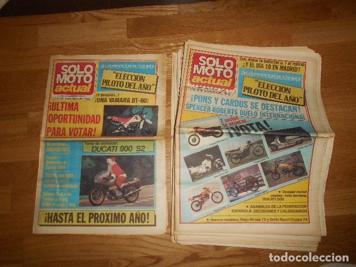 Coleccionismo deportivo: LOTE DE 24 REVISTA SOLO MOTO SOLO MOTO ACTUAL NºS DEL 386 AL 411 A FALTA DEL 394 AÑO 1983 - Foto 17 - 140430438
