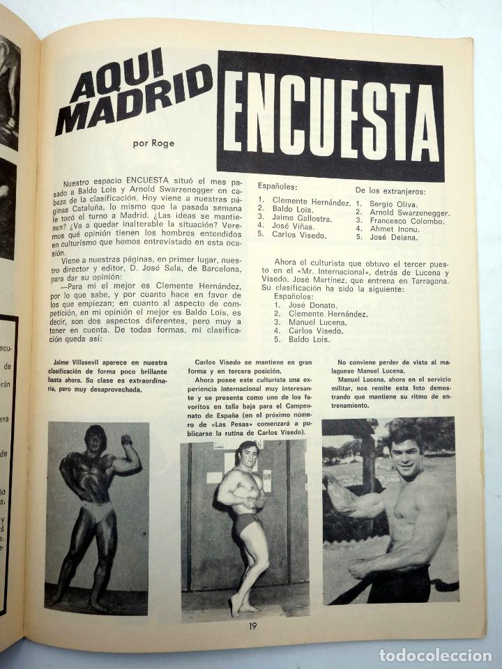 Coleccionismo deportivo: REVISTA LAS PESAS FISICO CULTURISMO Y HALTEROFILIA 103. GIUSEPPE DEIANA (VVAA) Alas, 1972. IFBB - Foto 5 - 141685108