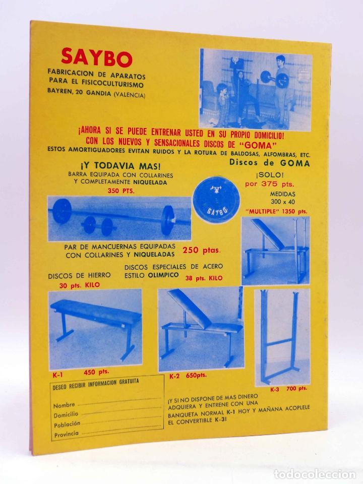 Coleccionismo deportivo: REVISTA LAS PESAS FISICO CULTURISMO Y HALTEROFILIA 104. ANTONIO LARA (VVAA) Alas, 1972. IFBB - Foto 2 - 180152085