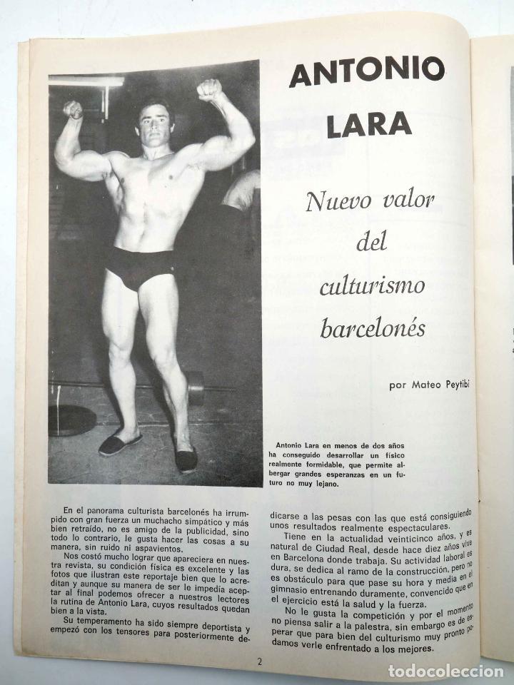 Coleccionismo deportivo: REVISTA LAS PESAS FISICO CULTURISMO Y HALTEROFILIA 104. ANTONIO LARA (VVAA) Alas, 1972. IFBB - Foto 4 - 180152085
