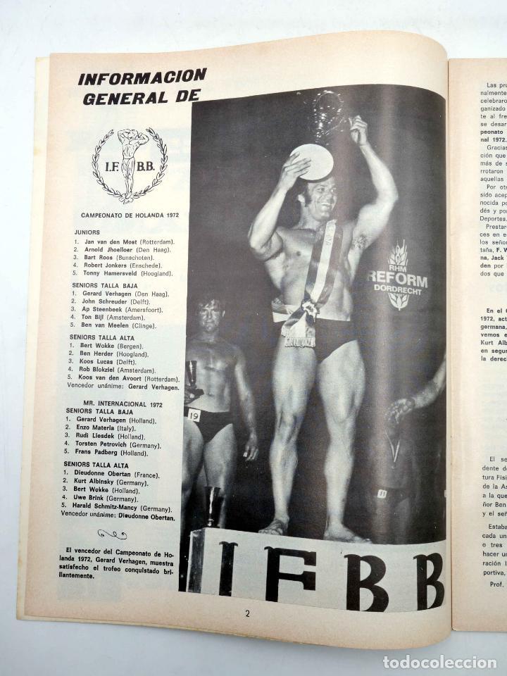 Coleccionismo deportivo: REVISTA LAS PESAS FISICO CULTURISMO Y HALTEROFILIA 108. CAMPEONATO DE ANDALUCIA. Alas, 1972. IFBB - Foto 4 - 141685124