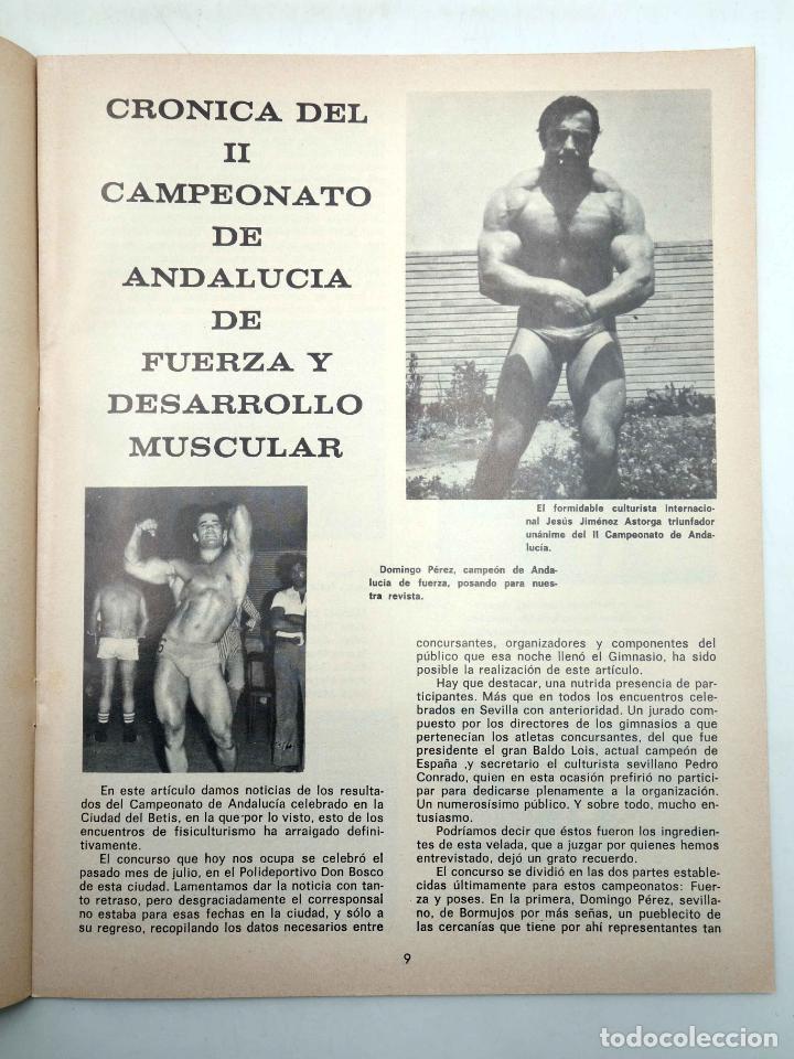 Coleccionismo deportivo: REVISTA LAS PESAS FISICO CULTURISMO Y HALTEROFILIA 108. CAMPEONATO DE ANDALUCIA. Alas, 1972. IFBB - Foto 5 - 141685124