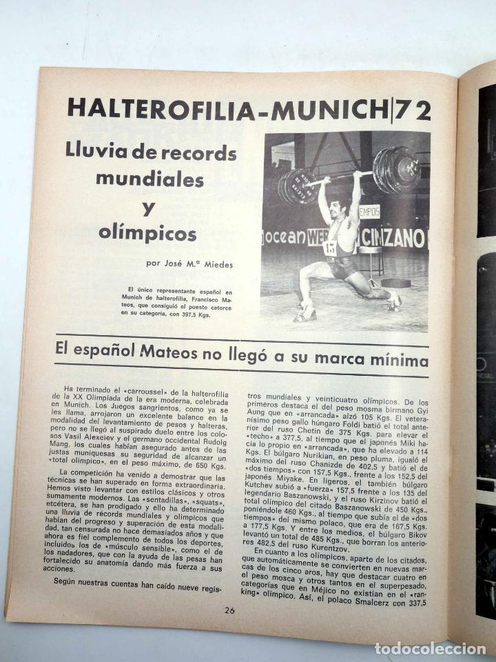 Coleccionismo deportivo: REVISTA LAS PESAS FISICO CULTURISMO Y HALTEROFILIA 108. CAMPEONATO DE ANDALUCIA. Alas, 1972. IFBB - Foto 7 - 141685124