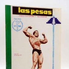 Coleccionismo deportivo: REVISTA LAS PESAS FISICO CULTURISMO Y HALTEROFILIA 110. MIKE KATZ MR OLIMPIA 1972. ALAS, 1972. IFBB. Lote 180152091