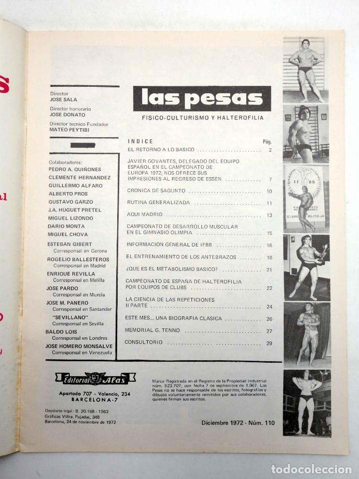Coleccionismo deportivo: REVISTA LAS PESAS FISICO CULTURISMO Y HALTEROFILIA 110. MIKE KATZ MR OLIMPIA 1972. Alas, 1972. IFBB - Foto 3 - 180152091