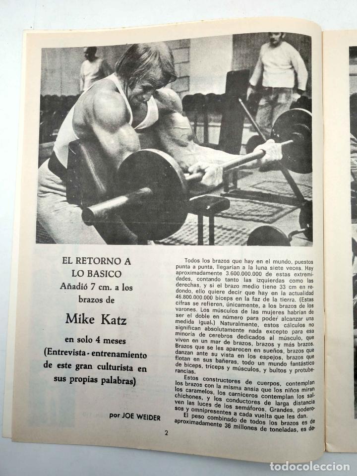 Coleccionismo deportivo: REVISTA LAS PESAS FISICO CULTURISMO Y HALTEROFILIA 110. MIKE KATZ MR OLIMPIA 1972. Alas, 1972. IFBB - Foto 4 - 180152091