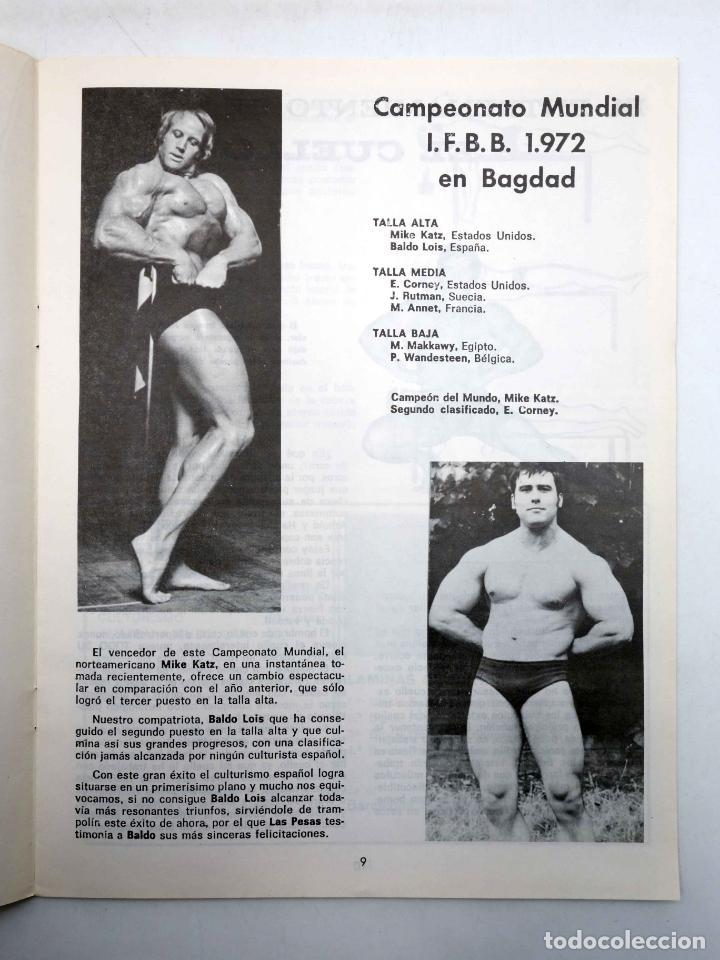 Coleccionismo deportivo: REVISTA LAS PESAS FISICO CULTURISMO Y HALTEROFILIA 111. JANKO RUDMANN CAMPEÓN EUROPA., 1973. IFBB - Foto 5 - 180152092