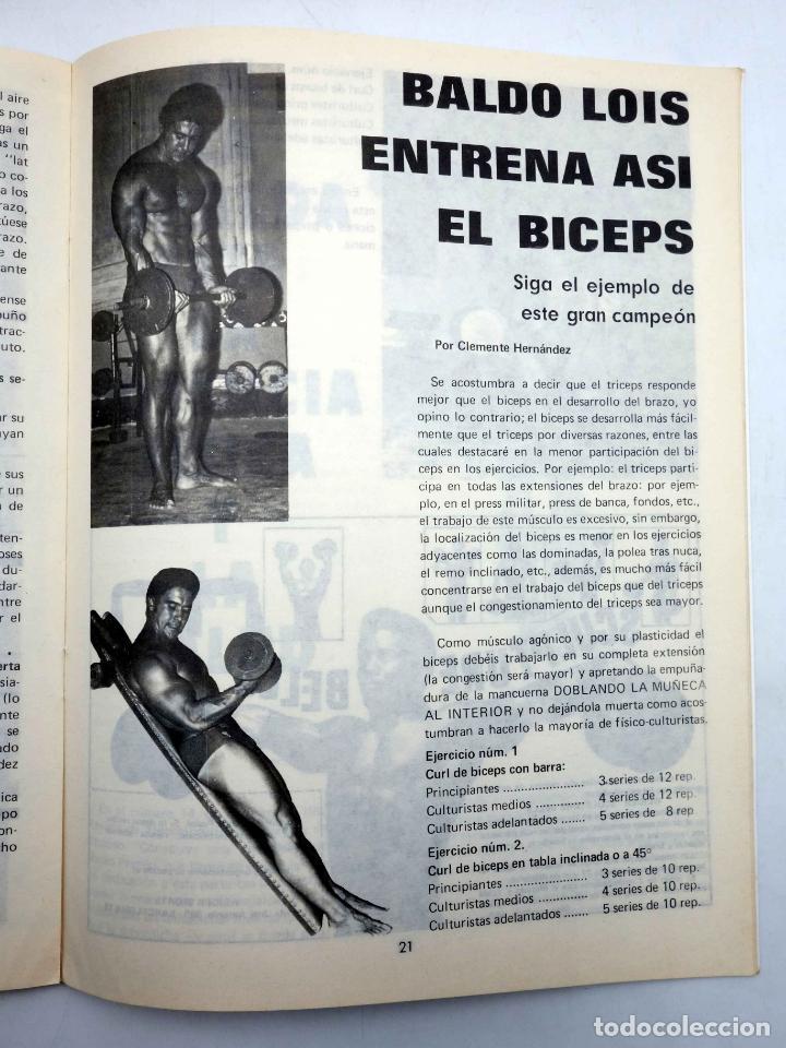 Coleccionismo deportivo: REVISTA LAS PESAS FISICO CULTURISMO Y HALTEROFILIA 117. SALVADOR RUIZ (VVAA) Alas, 1973. IFBB - Foto 4 - 141685160