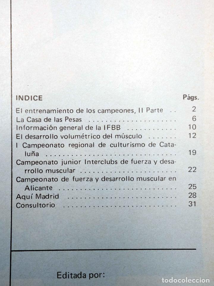Coleccionismo deportivo: REVISTA LAS PESAS FISICO CULTURISMO Y HALTEROFILIA 125. AHMET ENULU (VVAA) Alas, 1974. IFBB - Foto 4 - 180152070