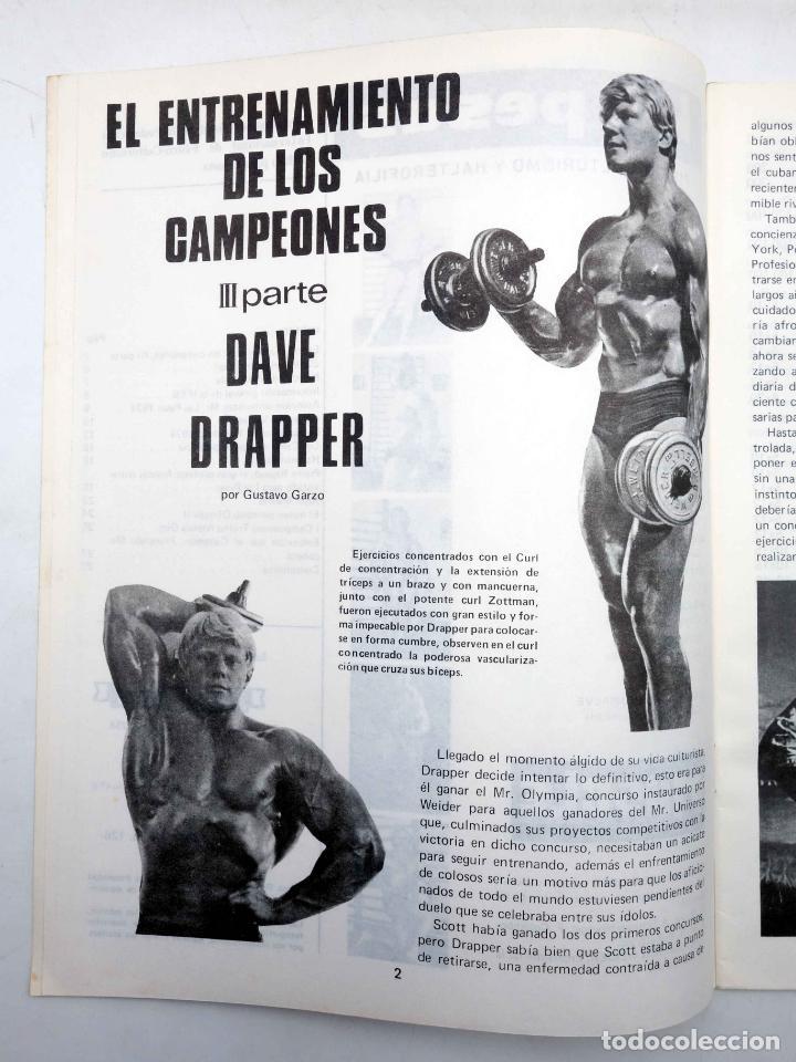 Coleccionismo deportivo: REVISTA LAS PESAS FISICO CULTURISMO Y HALTEROFILIA 126. GIUSEPPE DEIANA (VVAA) Alas, 1974. IFBB - Foto 3 - 147676897