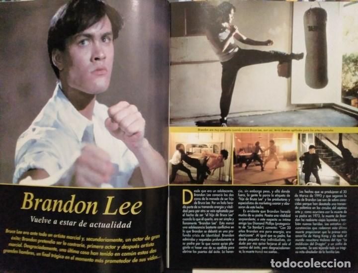 Coleccionismo deportivo: Brandon Lee - Tres revistas de artes marciales Dojo - Foto 3 - 141853534