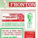 Coleccionismo deportivo: FRONTON. REVISTA INFORMATIVA DE LA PELOTA. SEPTIEMBRE 1968. CHIQUITO DE GALLARTA. Lote 141906138