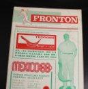 Coleccionismo deportivo: FRONTON. REVISTA INFORMATIVA DE LA PELOTA. OCTUBRE 1968. MEXICO 68. Lote 141906248