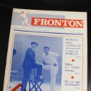 Coleccionismo deportivo: FRONTON. REVISTA INFORMATIVA DE LA PELOTA. MARZO 1968. RETEGUI. Lote 141906414