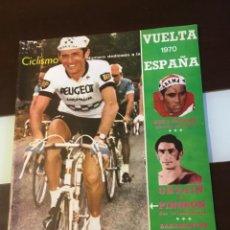 Coleccionismo deportivo: REVISTA CICLISMO VUELTA ESPAÑA 1970 PERFECTO ESTADO. Lote 143024118