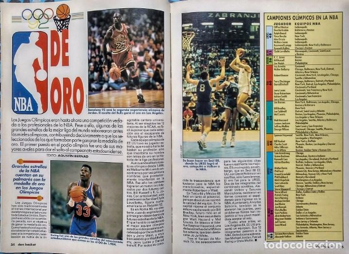 Coleccionismo deportivo: Michael Jordan - Revista ''Don Basket'' (julio 1992) - ''Dream team'' - NBA - Foto 5 - 143112278