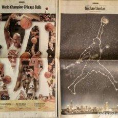 Coleccionismo deportivo: MICHAEL JORDAN & CHICAGO BULLS - DOS SECCIONES ESPECIALES DEL ''CHICAGO TRIBUNE'' (1998-1999) - NBA. Lote 144520710