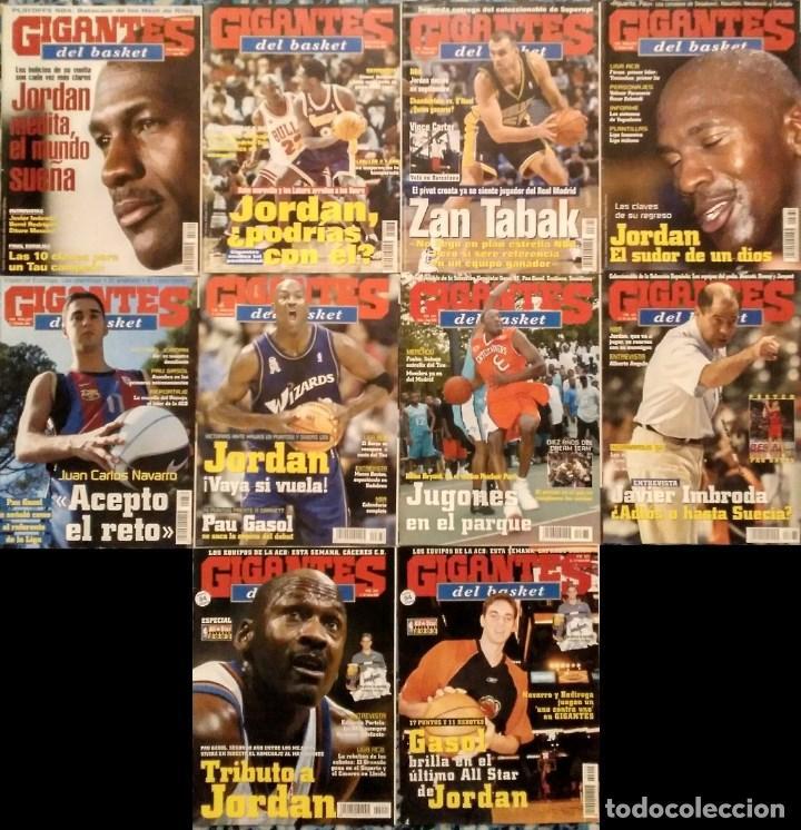 MICHAEL JORDAN & WASHINGTON WIZARDS - 12 REVISTAS ''GIGANTES DEL BASKET'' (2001-2003) - NBA (Coleccionismo Deportivo - Revistas y Periódicos - otros Deportes)