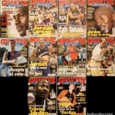 Coleccionismo deportivo: MICHAEL JORDAN & WASHINGTON WIZARDS - 10 REVISTAS ''GIGANTES DEL BASKET'' (2001-2003) - NBA. Lote 145216850