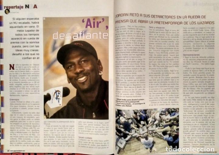 Coleccionismo deportivo: Michael Jordan & Washington Wizards - 14 revistas Gigantes del Basket (2001-2003) - NBA - Foto 6 - 145216850