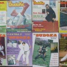 Coleccionismo deportivo: 18 (+3) REVISTAS DE ARTES MARCIALES ''DOJO'', ''CINTURÓN NEGRO'', ''EL BUDOKA'', ETC.. Lote 145778694