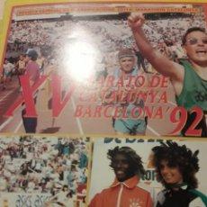 Coleccionismo deportivo: XV MARATÓ DE CATALUNYA BARCELONA 92 REVISTA PER ALS CLASIFICATS. Lote 147089254