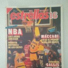 Coleccionismo deportivo: REVISTA ESTRELLAS DEL BASQUET 16.NUM 8.29 NOVI.1987.NBA.ROS. Lote 147436641
