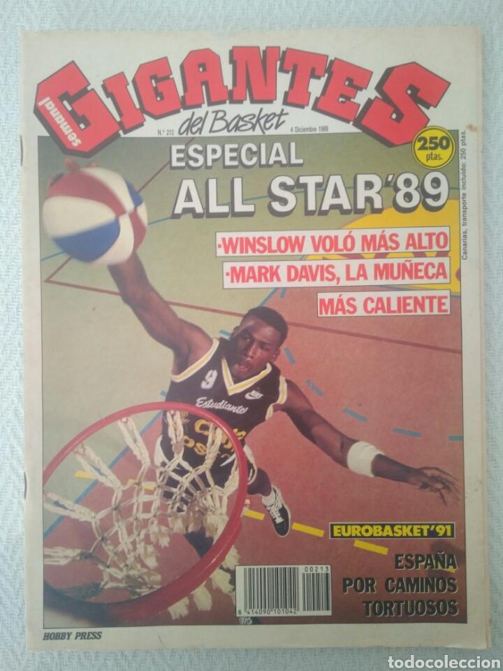 REVISTA GIGANTES DEL BASQUET.N 213.4DICIEMBRE 1989.ESPECIAL ALL STAR'89.VER FOTOS (Coleccionismo Deportivo - Revistas y Periódicos - otros Deportes)