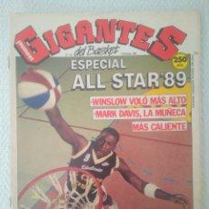 Coleccionismo deportivo: REVISTA GIGANTES DEL BASQUET.N 213.4DICIEMBRE 1989.ESPECIAL ALL STAR'89.VER FOTOS. Lote 147438029