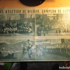 Coleccionismo deportivo: ATHLETIC CLUB DE BILBAO CAMPEON DE LIGA HOJA DOBLE DE PERIODICO POSTER. Lote 148050278