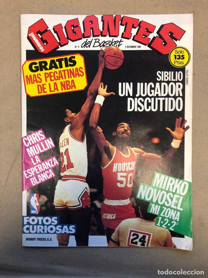 GIGANTES DEL BASKET N°4 (1985). SIBILIO, CHRIS MULLIN, NOVOSEL, POSTER DE CORBALAN, ... (Coleccionismo Deportivo - Revistas y Periódicos - otros Deportes)