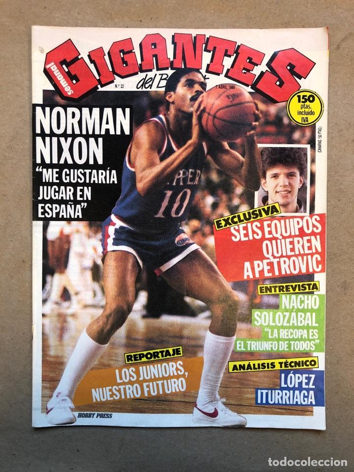 GIGANTES DEL BASKET N°22 (1996). PETROVIC, SOLOZABAL, ITURRIAGA, POSTER DE NIXON. (Coleccionismo Deportivo - Revistas y Periódicos - otros Deportes)