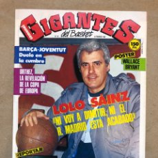 Colecionismo desportivo: GIGANTES DEL BASKET N°67 (1987). LOLA SAINZ, BARÇA - JOVENTUT, ESPAÑOL VA A DESAPARECER, POSTER WALL. Lote 148409530