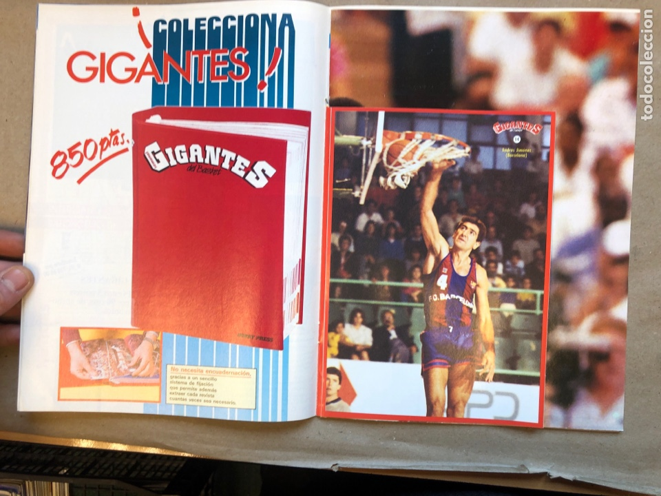 Coleccionismo deportivo: GIGANTES DEL BASKET N°145 (1988). ROMAY, UCLA, JOHN SALLEY, POSTER I. THOMAS, PEGATINA A. JIMÉNEZ,.. - Foto 2 - 148415229
