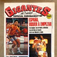 Coleccionismo deportivo: GIGANTES DEL BASKET N° 190 (1989). ESPECIAL EUROBASKET '89, ADIÓS KAREEM (POSTER), BAD BOYS,... Lote 148421232
