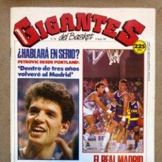 Coleccionismo deportivo: GIGANTES DEL BASKET N° 199 (1989). PETROVIC, SABONIS, POSTER KAREEM ABDUL JABBAR,.:. Lote 148421560