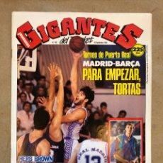 Coleccionismo deportivo: GIGANTES DEL BASKET N° 202 (1989). MADRID - BARÇA, HERB BROWN, POSTER VILLACAMPA,.... Lote 148421796