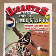 Coleccionismo deportivo: GIGANTES DEL BASKET N° 213 (1989). ESPECIAL ALL STAR '89, EUROBASKET '91, POSTER PIPPEN,... Lote 148422453