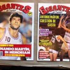 Coleccionismo deportivo: GIGANTES DEL BASKET N° 214 Y 215 (1989). MUERTE DE FERNANDO MARTÍN, POSTER F. MARTÍN Y R. WINSLOW.. Lote 148422917