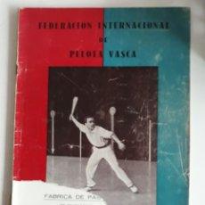 Coleccionismo deportivo: FEDERACIÓN INTERNACIONAL DE PELOTA VASCA N°3 ENERO 1951. Lote 148733316