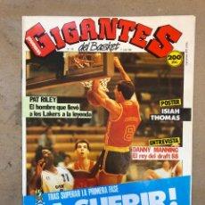 Coleccionismo deportivo: GIGANTES DEL BASKET N° 140 (1988). PRÉ-OLÍMPICO, PAT RILEY, POSTER ISIAH THOMAS,... Lote 149448992