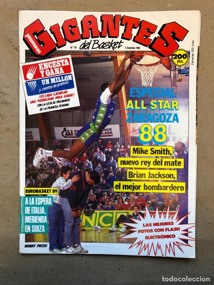 GIGANTES DEL BASKET N° 161 (1988). ESPECIAL ALL STAR ZARAGOZA 88, EUROBASKET 89, POSTER DAN BINGENHE (Coleccionismo Deportivo - Revistas y Periódicos - otros Deportes)