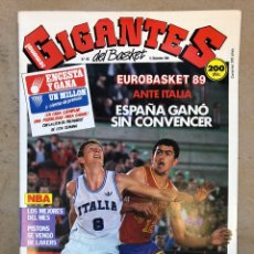 Coleccionismo deportivo: GIGANTES DEL BASKET N° 162 (1988). EUROBASKET 89, NBA, POSTER MIKE SMITH,... Lote 149450409