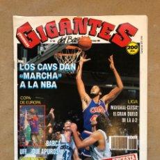 Coleccionismo deportivo: GIGANTES DEL BASKET N° 168 (1989). CLEVELAND CAVS, VLADO DIVAC, PICULIN ORTIZ, POSTER BIRIUKOV,... Lote 149452214