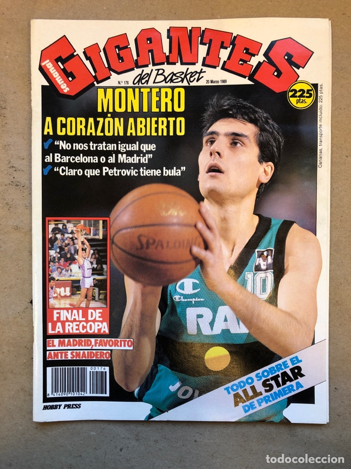 GIGANTES DEL BASKET N° 176 (1989). J.A. MONTERO, FINAL RECOPA, POSTER TERRY CUMMINGS,... (Coleccionismo Deportivo - Revistas y Periódicos - otros Deportes)