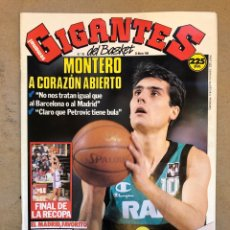 Coleccionismo deportivo: GIGANTES DEL BASKET N° 176 (1989). J.A. MONTERO, FINAL RECOPA, POSTER TERRY CUMMINGS,.... Lote 149453469