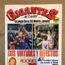 Coleccionismo deportivo: GIGANTES DEL BASKET N° 184 (1989). FINALES ACB, ROOKIES '89, NBA, POSTER BOGUES Y WEBB.. Lote 149455254