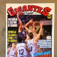Coleccionismo deportivo: GIGANTES DEL BASKET N° 186 (1989). FINAL BARÇA-MADRID, SEMIFINALES NBA, SABONIS, POSTER MARK JACKSON. Lote 149455613